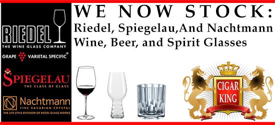 We Now Stock:Riedel, Spiegelau,And NachtmannWine, Beer, and Spirit Glasses